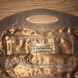 Cute Bronze color clutch from Express